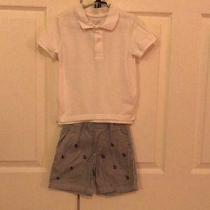 Other - Boys 2t collar shirt & nautical shorts
